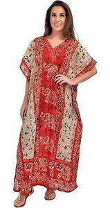 New-Long-Kaftan-dress-Hippy-Boho-Maxi-One-Size-Plus-Women-Caftan-Top-Dress-Gown