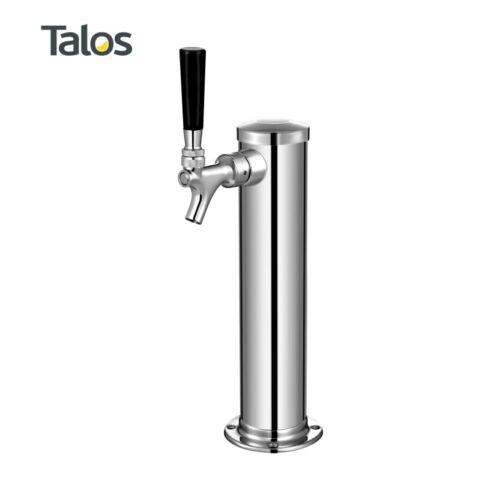"""Talos Draft Beer Kegerator Tower 3/"""" Column 1 Tap//Faucet Stainless Steel Beer"""