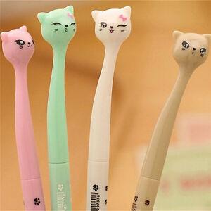 5x-chat-aleatoire-kawaii-stylos-a-bille-noir-gel-encre-rouleau-stylo-point