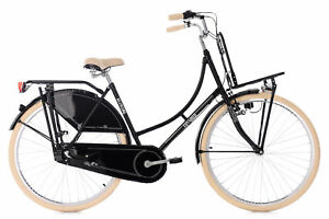 Damenrad-Hollandrad-28-034-Tussaud-schwarz-3-Gang-Lastentraeger-KS-Cycling-344H