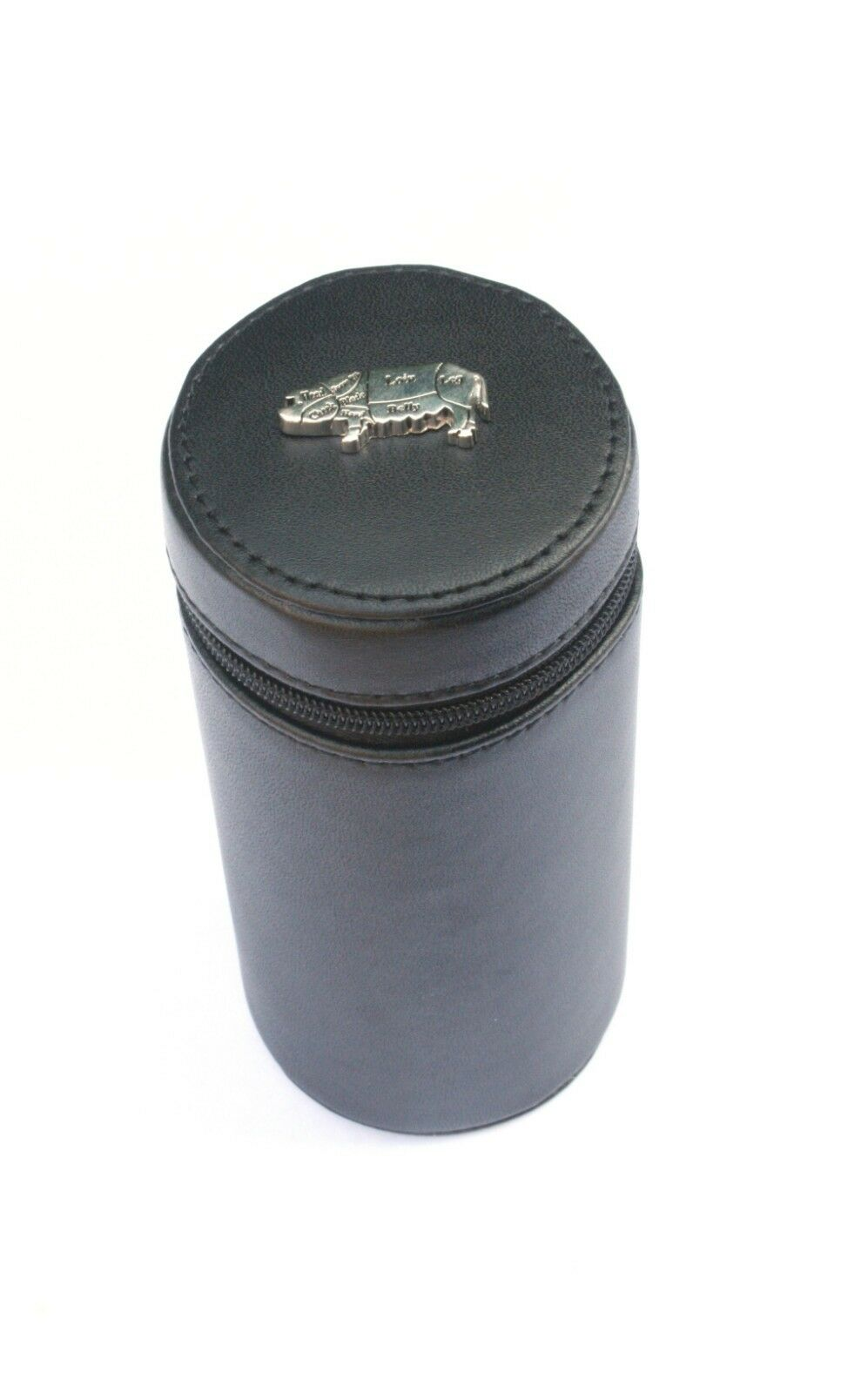 Butcher Pig Shooting Peg Position Finder Numberojo Cups 1-10 negro Leather Case