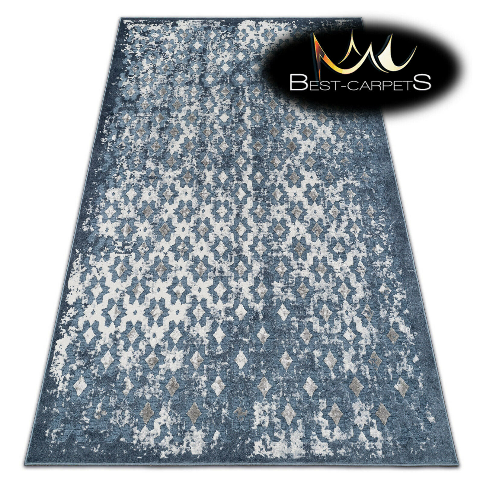 Very Soft Rug Rug Rug 'YAZZ' 100% Acrylic High Quality Unique Design Oriental Blau 930da9