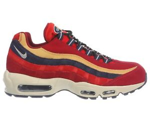 304a93e2f93b Nike Air Max 95 Premium Mens 538416-603 Red Purple Wheat Running ...