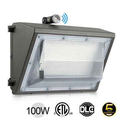 LEDMO 120W LED Wall Pack with Photocell Dusk to Dawn Outdoor Wall Pack Light 840