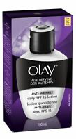 OLAY Age Defying Anti-Wrinkle Daily SPF 15 Lotion 3.40 oz (Pack of 2)