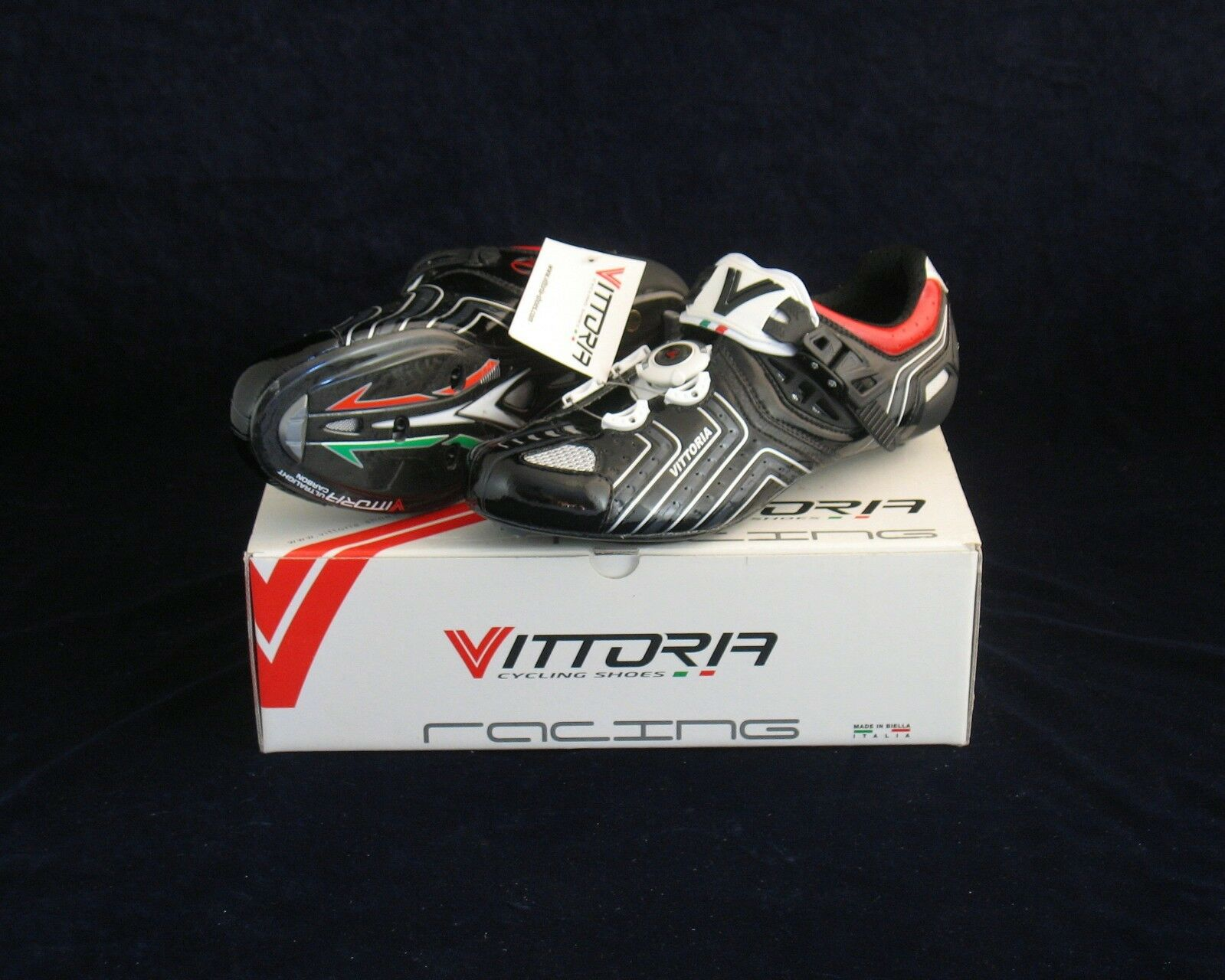 VITTORIA ITALIAN HORA Carbono-u road cycling zapatos 8, 9, 11.5