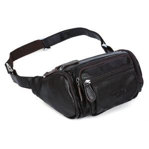 bbc3291f79774 Real Leather Men Waist Fanny Bag Sport Outdoor Pocket Hip Bum Pouch ...