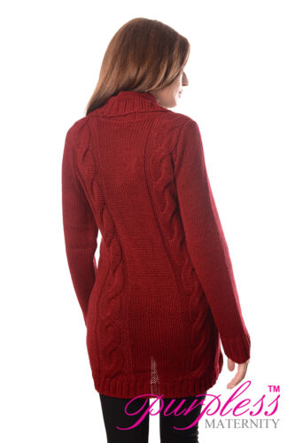 Cardigan Fermeture Bouton maternité grossesse pull taille 8 10 12 14 16 18 9004