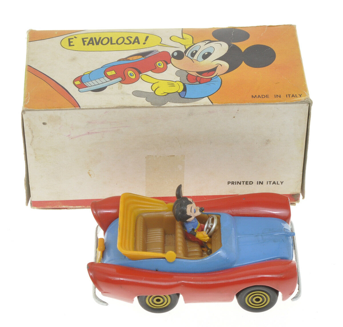 Politoys Topolino, made in Italy,   version     old box, RARE | Grandes Variétés