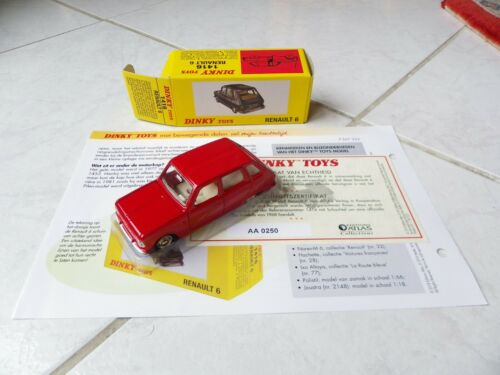 Renault 6 1416 Dinky Toys Atlas 1//43 avec boite et fascicule