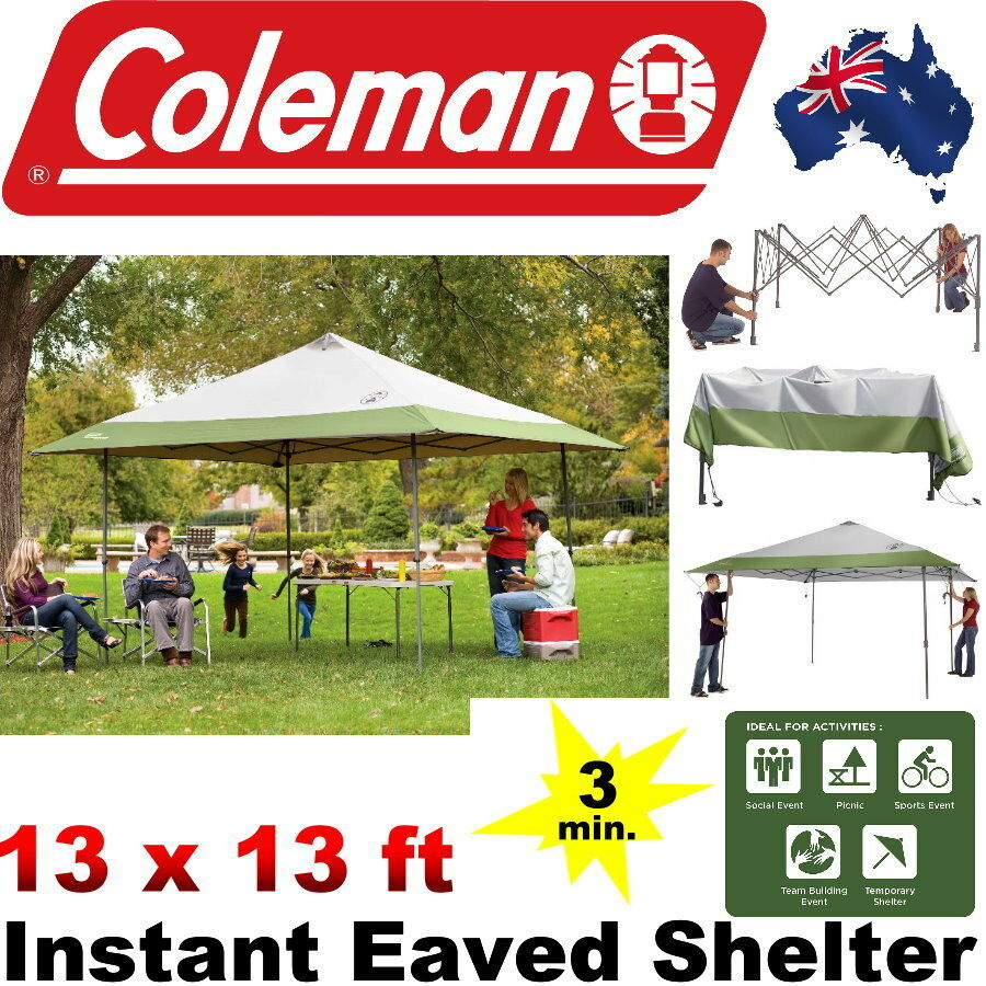 Get Even More Cool Shade With The ColemanR 4 M X 13 Ft Instant Eaved Shelter In Approximately 3 Minutes And Steps You Can Enjoy Up To