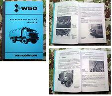 IFA W50 LA/A Betriebsanleitung W 50 NVA L60 L 60