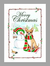 Chihuahua Christmas Cards, Box of 16 Cards & 16 Envelopes