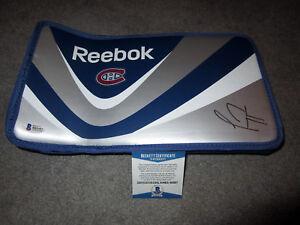 CAREY PRICE Montreal Canadiens SIGNED Autographed Goalie Blocker BAS COA PROOF