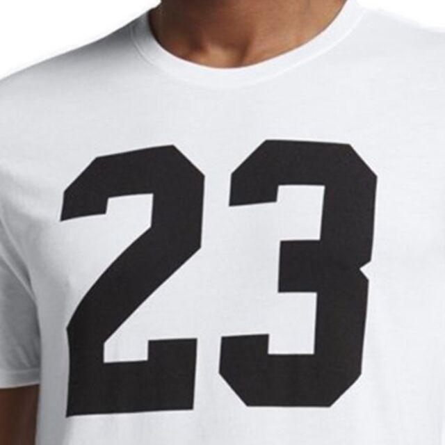 af25b1b98b306c Jordan Iconic 23 Tee T-shirt 843713-100 White Black Mens US Size XLarge