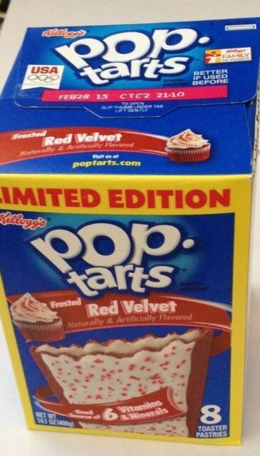 Pop tarts Frosted Red Velvet 8 toaster pastries 400g (2 pack)