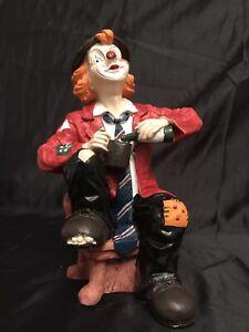 Grosser-Deko-Clown-Sammlerstueck-im-Bestzustand-NEUWERTIG