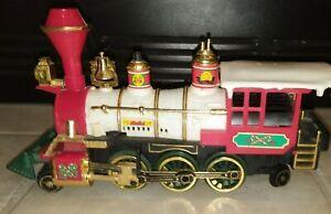 Vintage 1986 New Bright Holiday Express Train LOCOMOTIVE ENGINE UNTESTED