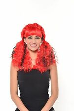 Halloween Red Curly Doll Wig with Bangs G0549R