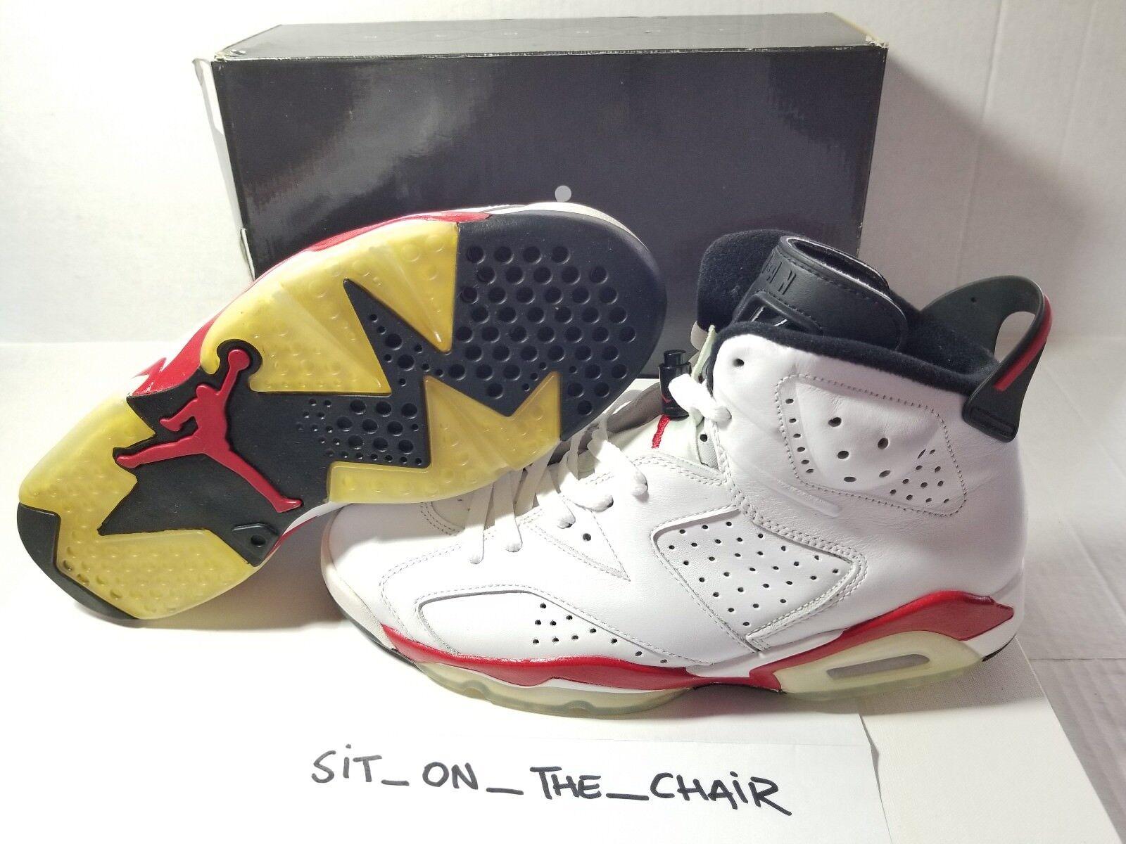 DS Nike Air Jordan VI 6 Retro SZ 9.5 CHICAGO WHTE VAR RED INFRED BLK 384664-102
