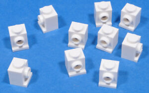 LEGO-10-x-Konverter-Stein-1x1-weiss-White-Brick-Headlight-4070-NEUWARE