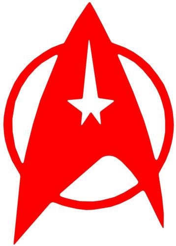 Star trek insignia badge Autocollant Vinyle Autocollant Voiture Van Ordinateur Portable Tablette mural
