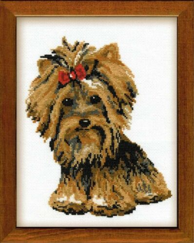 """/""""Yorkshire Terrier/"""" Counted Cross Stitch Kit RIOLIS 825"""