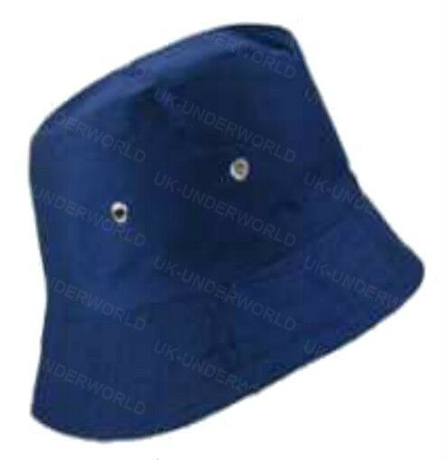 GIRLS CHILDRENS PLAIN COTTON BUCKET BUSH FLOPPY SUN SUMMER HAT WITH LINING