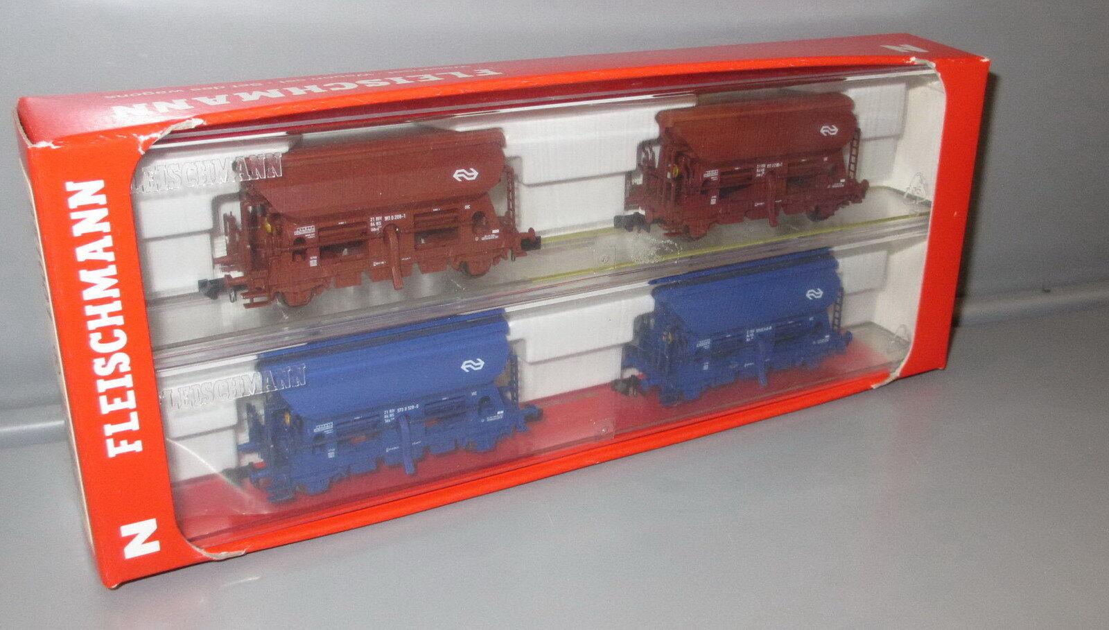 Fleischmann N 851001 4 pezzi stessi carrello scarico-Set di ns, epoca IV _ NUOVO _ n288