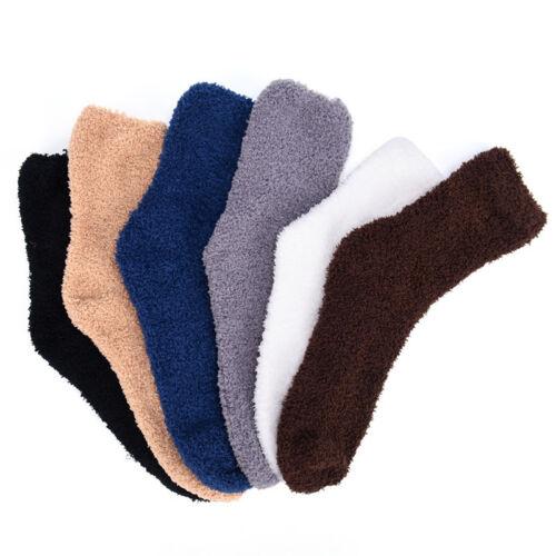 UK Men Extremely Cozy Cashmere Socks Warm Sleep Bed Floor Fluffy Lounge Sock