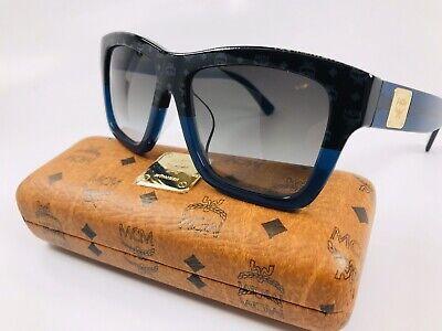 MCM Sunglasses MCM607SA 966 Black Visettos-Blue Rectangle Women/'s 56x16x140