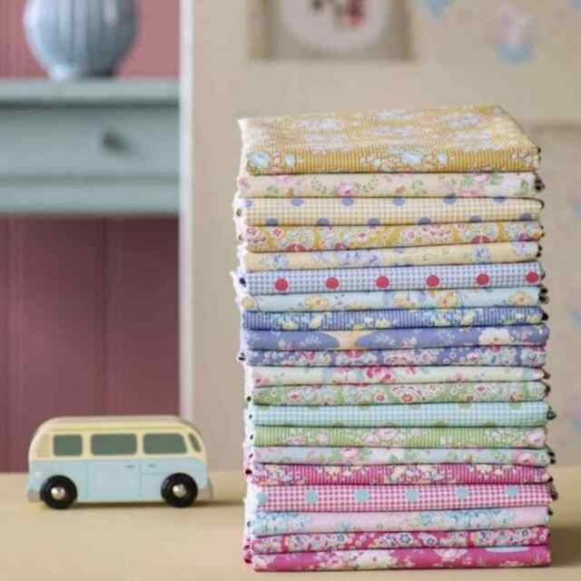 TILDA HAPPY CAMPERS Vintage Shabby Chic Cotton Quilt Fabric ~ 20 Fat Quarters
