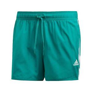Adidas-3-Stripes-CLX-Uomo-Costume-Verde-Corto-Asciugatura-Rapida-Tasche-Shorts