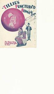 TILLIE-039-S-PUNCTURED-ROMANCE-1928-W-C-FIELDS-ORIGINAL-PRESSBOOK-HERALD