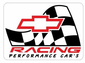 Chevy-Sticker-R156-Chevrolet-Racing-Race-Car