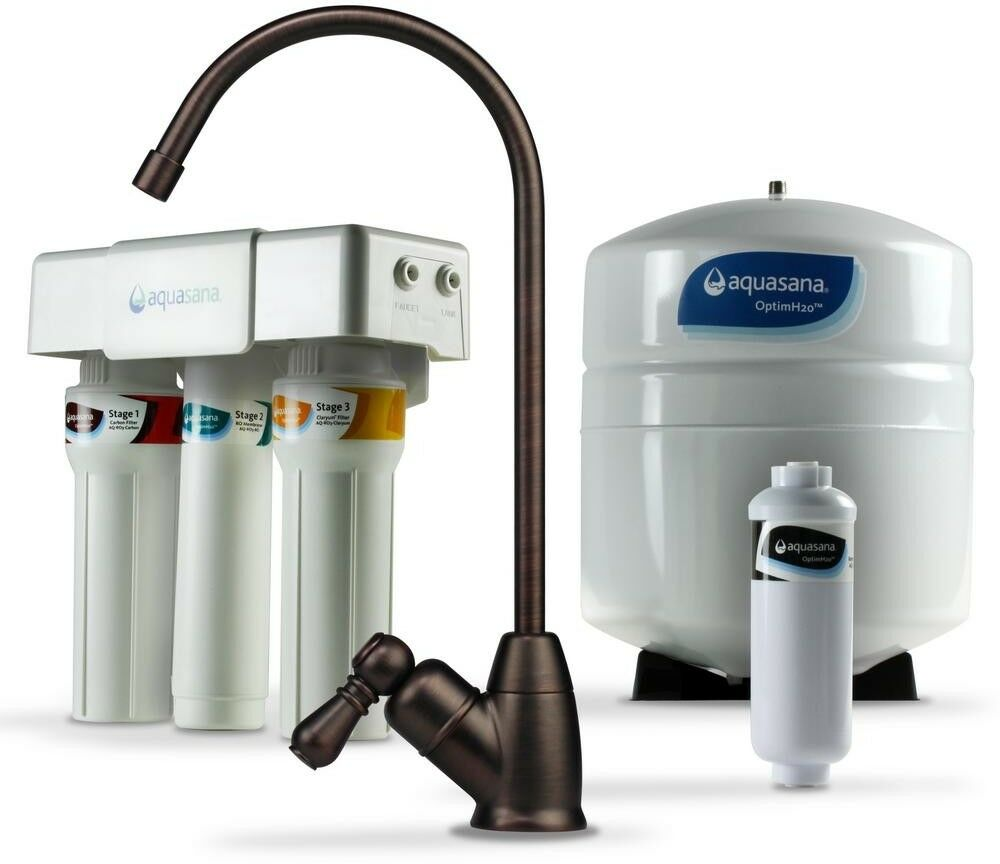 Reverse Osmosis Water Filter System Aquasana OptimH2O Faucet Oil-Rubbed Bronze