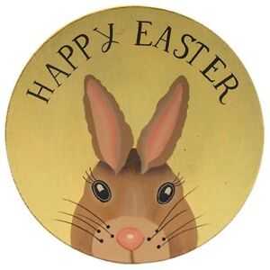 Image Is Loading Country Happy Easter Wooden Plate 8 034 Yellow