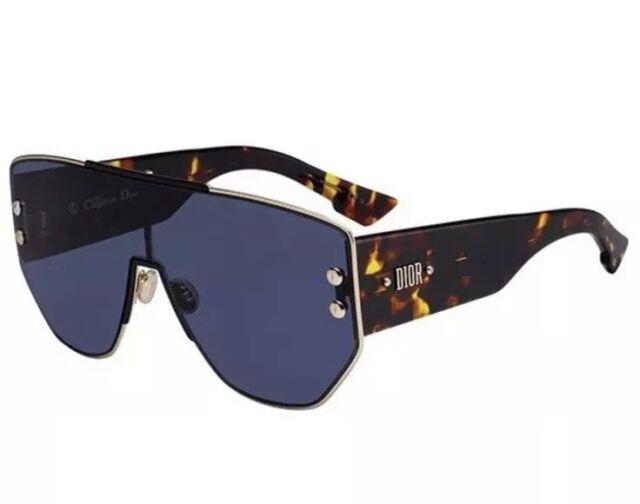 49899972efea Christian Dior Addict 1 Dioraddict1 0000/A9 Rose Gold Havana Blue Sunglasses