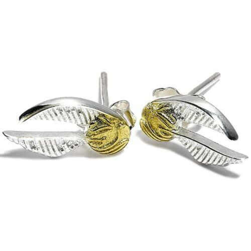 Golden Snitch Harry Potter-Pendientes de Plata