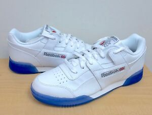 dfdbbdb36c4a15 Image is loading MENS-REEBOK-CLASSIC-WORKOUT-PLUS-ICE-White-Flat-