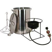 King Kooker 30 Quart Turkey Fryer Stainless Steel Portable Outdoor Propane