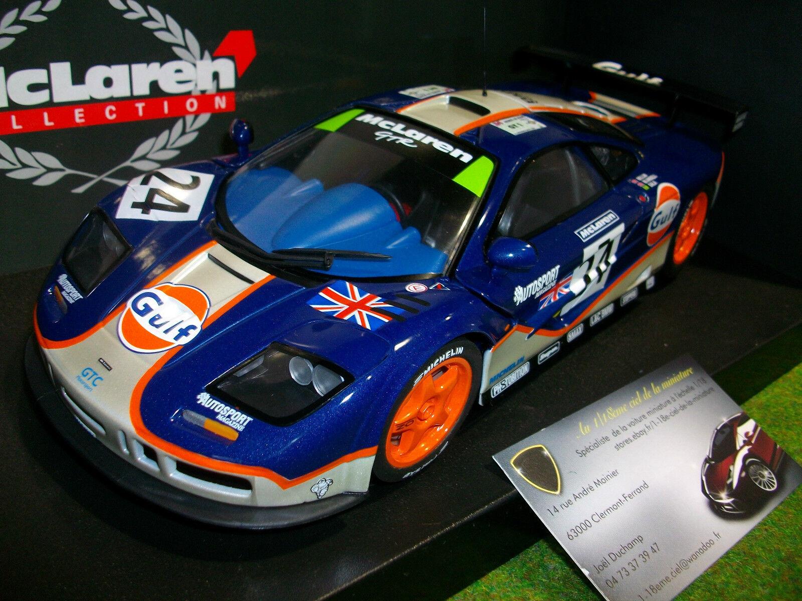 McLAREN F1 GTR  24 GULF 4th LE MANS blu au 1 18 UT MODELS 530151824 voiture
