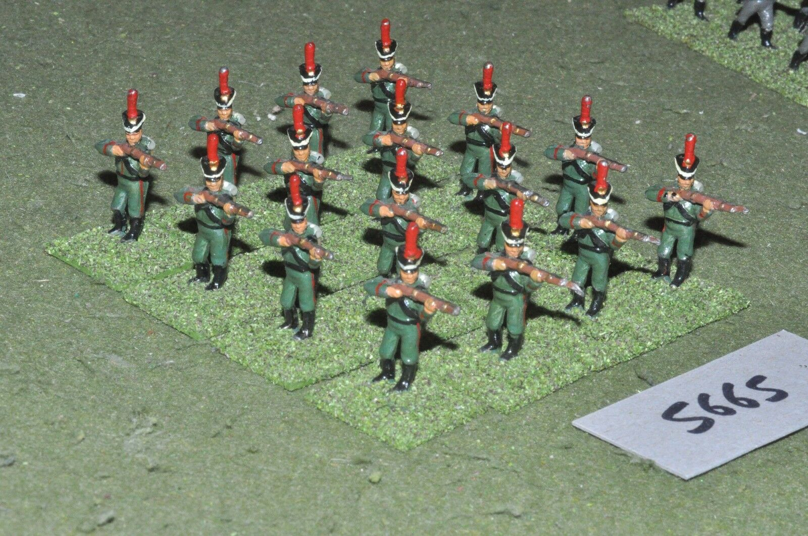25mm napoleonic   russian - infantry 24 figs - inf (5665)