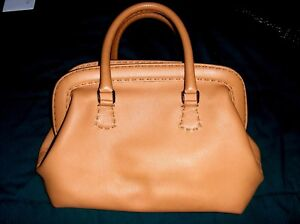d5f4c8a8ec7b Image is loading FENDI-SELLERIA-GRAINED-TAN-LEATHER-BAG-HANDBAG