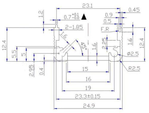 Extruded Aluminum Box Black Enclosure Electronic Project PCB DIY 50*25*25m /_j/_AP