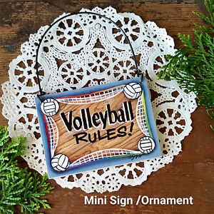 DECO-Mini-Sign-Volleyball-Rules-Volley-Ball-Player-Wood-Ornament-TeamGift-USA