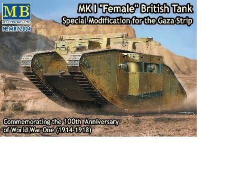 Char Britannique Mk.I Female, Gaza 1917 - KIT MASTER BOX 1/72 n° 72004