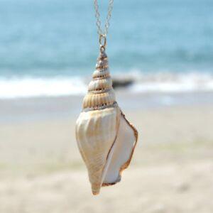 Ocean-Winds-Halskette-Muschel-Shell-Anhaenger-Halskette-Damen-Natuerlich-Cozy-Nett