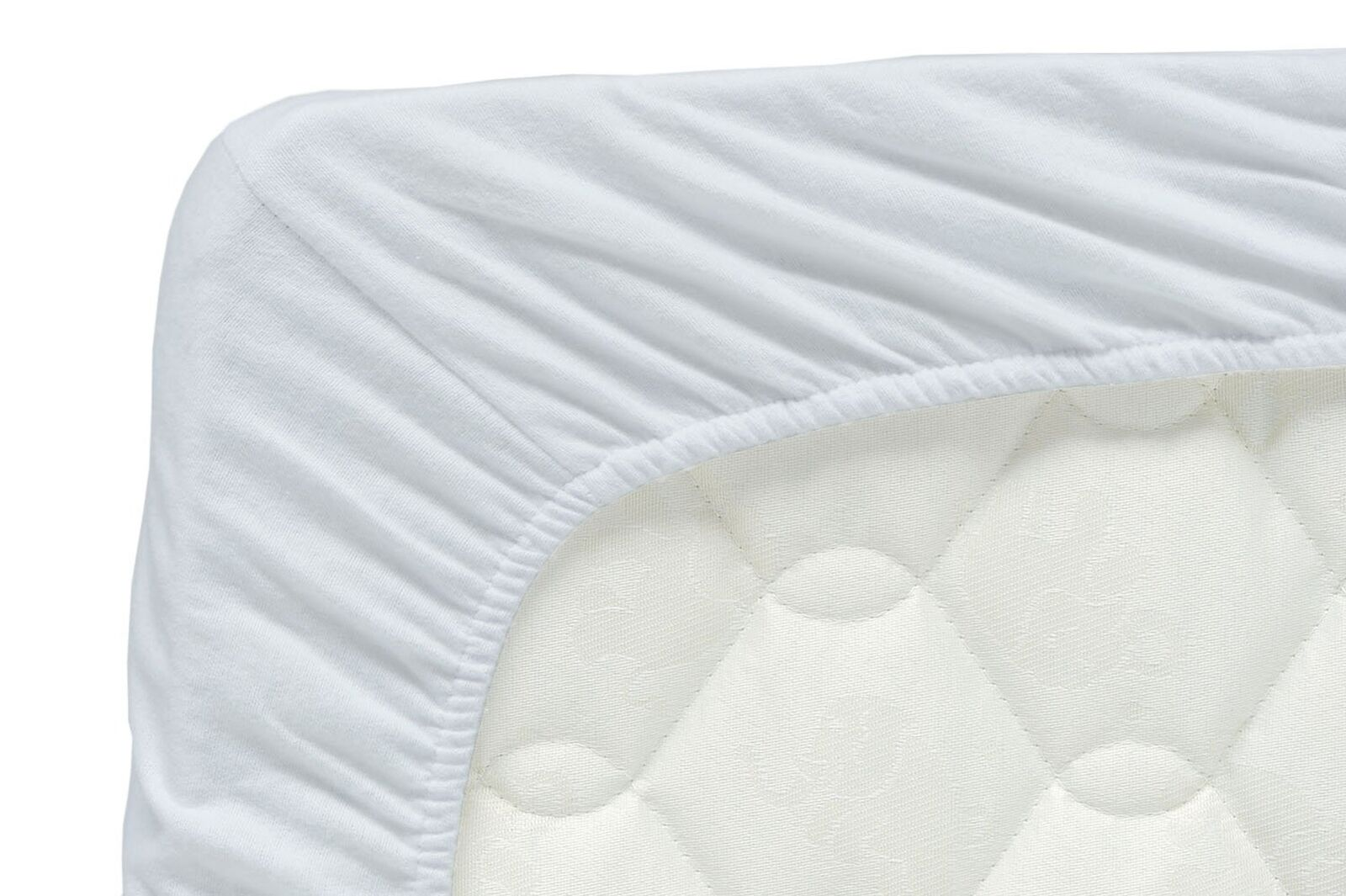 Briljant Home JHL160X220X00Jersey Stretch Fitted Sheet Cotton Weiß 160x 22...