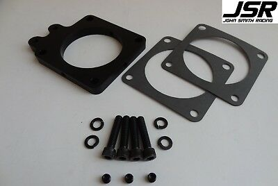 "86-93 Mustang GT LX 5.0 75mm Throttle Body Spacer Nitrous Plate Kit 1//2/"" BLACK"